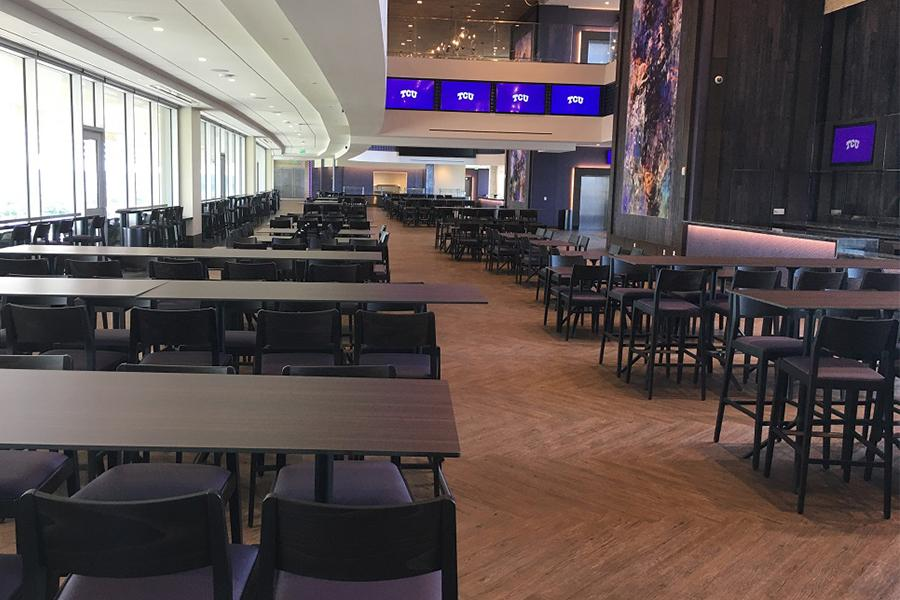 The newly-minted Legends Club is located on the east side of the stadium.